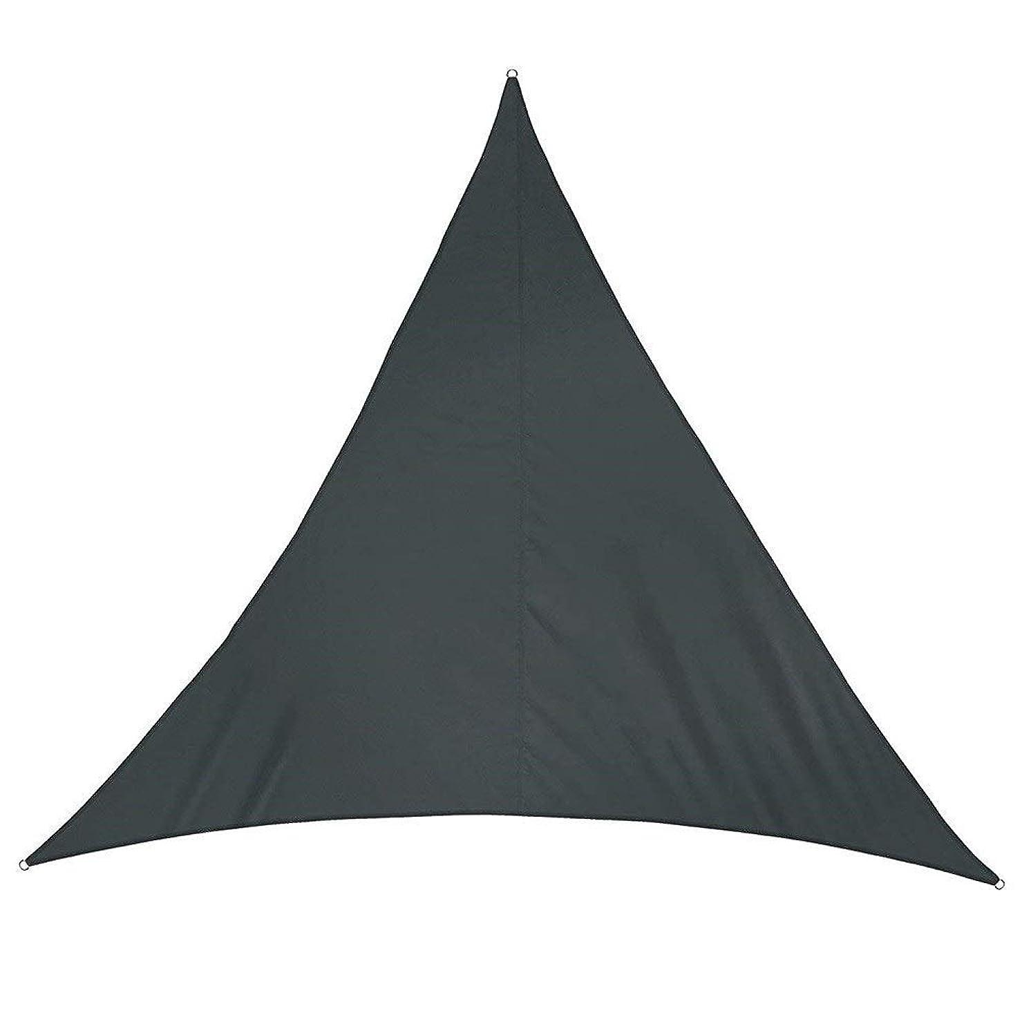 迅速不変チェリーFQJYNLY シェードセイル95%UVカット防水三角形ファイバD型プルリング庭園ティールーム、7色、5サイズ (Color : Black, Size : 4x4x4m)