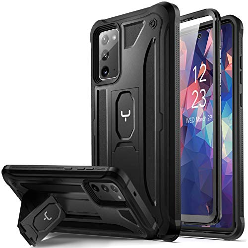 YOUMAKER Designed for Samsung Galaxy Note 20 5G Case with Built-in Screen Protector & Kickstand Full Body Heavy Duty Shockproof Rugged Protective Cover for Galaxy Note 20 5G 6.7 inch - Black