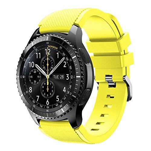 Baohooya 22mm Correa para Samsung Gear S3 Frontier Moda Sports Pulsera de Reloj Banda de Silicona para Samsung Gear S3 Frontier