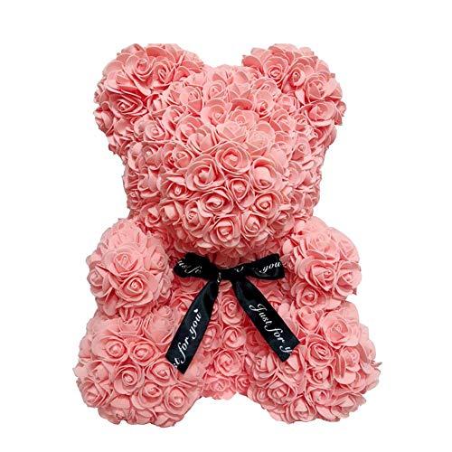 MAyouth Rose Bär Spielzeug Valentinstag kreative Geschenk für Immer künstliche Rose Blumen Jubiläum Hochzeit Geburtstag Valentines Geschenke für ihren Liebhaber (40 cm)