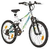 Mountain-bike per ragazzi e ragazze, 20 pollici, telaio 31cm, 6marce, colore nero, Bambini Uomo...
