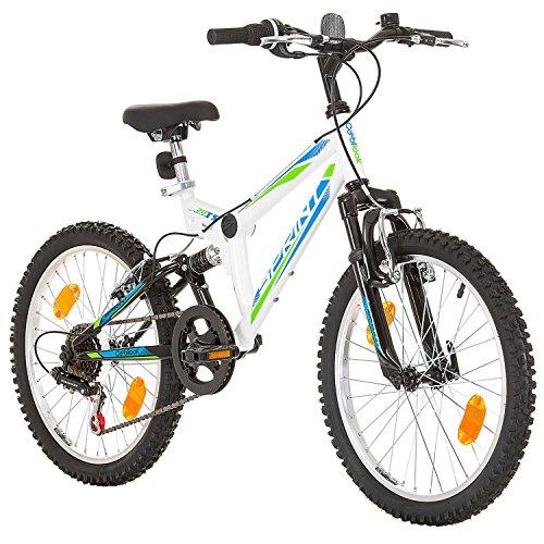 Mountain-bike per ragazzi e ragazze, 20 pollici, telaio 31cm, 6marce, colore nero, Bambini Uomo Donna Ragazzo Bambina, Sprint, bianco, 51 cm