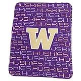 Logo Brands NCAA Washington Huskies Classic Fleece, One Size