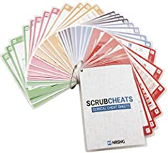 NRSNG Scrubcheats 56 Heavy Duty Laminated Nursing Reference Cards (4X6 Fits in Scrub Pocket) (MedSurg, Critical Care, Pharmacology, Peds, Respiratory, Cardiac) Waterproof Cheats for Nurses