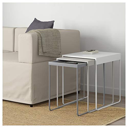 IKEA Juego de 3 mesas de Nido de Madera, Juego de 3