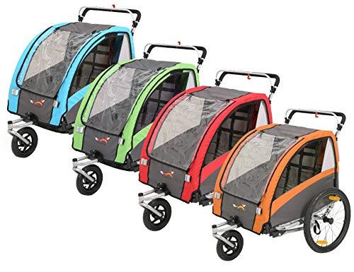 Fiximaster 2020 V2 multifunktion 2 in 1 Fahrradanhänger/Kinderwagen 360 ° drehbar Baby Buggy Fahrradanhänger mit Lenker und Federung rot BT504S Neu
