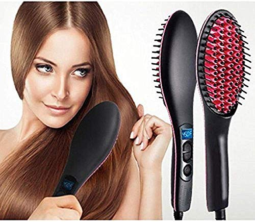 KWT Hair Electric Comb Brush 3 in 1 Ceramic Fast Hair Straightener For Women's Hair Straightening Brush with LCD Screen,...