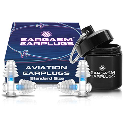 Eargasm Aviation Earplugs - Ear Pain Relief for Air Travel - Standard Size (2 Pairs in Gift Box Packaging)