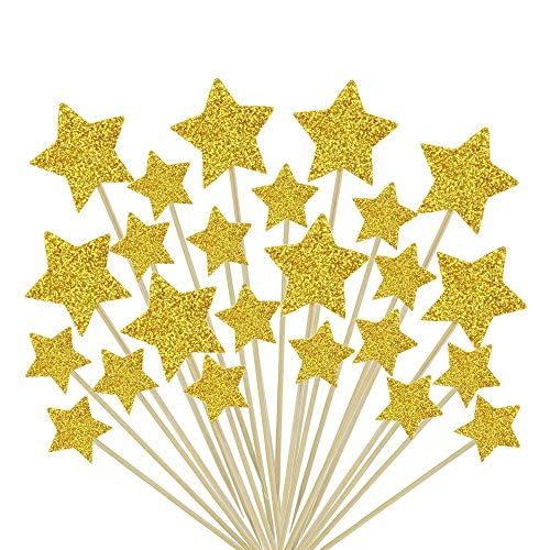 Twinkle Gold Star Decorations