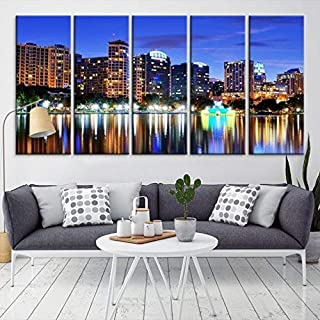 Orlando City Wall Art Print, Large Wall Art Orlando Skyline Canvas Print, Large Orlando Wall Art Canvas Print, Orlando Multi Panel Art Canvas Print