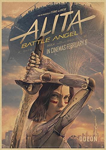 Yiwuyishi Alita Battle Angel Film Peinture Alita Anime Core Image Chambre Canapé Salon Mur Art Décor À La Maison Toile Affiches 50x70cm (19.68x27.55 in) P-1199