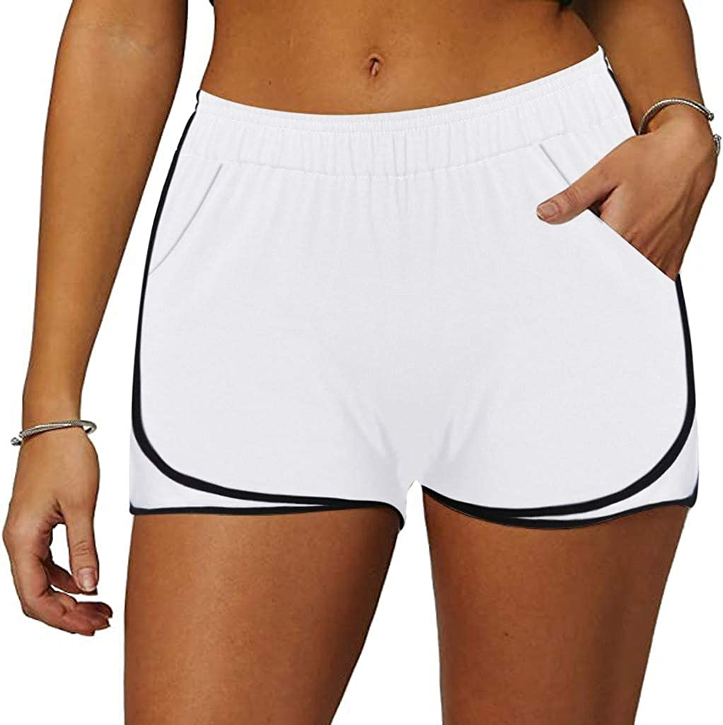 Athletic Shorts for Women,Athletic Workout Gym Yoga Running Fitness Sports Shorts for Women Lounge Short Pants