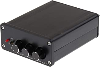 Gazechimp Amplificador De Audio Esté De 2.1 Canales Receptor Mini Hi-Fi Clase D Amplificador Integrado 2 X 50 W + 100 W para Altavoces Caseros