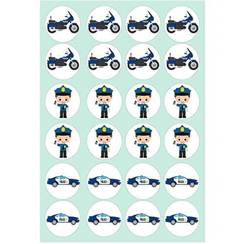 Muffinaufleger Polizeifahrzeuge zum Selbstausschneiden // Kindergeburtstag Polizei