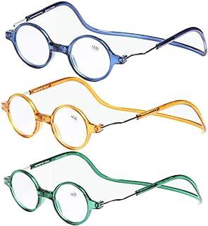 483adcc0d7 TENGGO 3Pcs Imán Desmontable Colorido Pc Peso Ligero Cuello Colgante  Presbicia Lectura Gafas-# 2