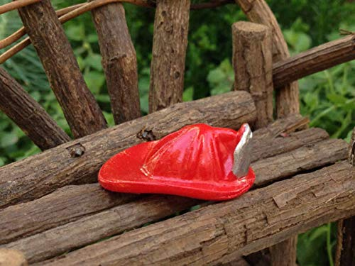 for Miniature Dollhouse Accessories ~ Tiny Red Fireman's Helmet ~ New Verits Supplier for Home & Garden