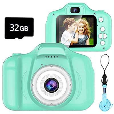 Seckton Classic Kids Camera, Best Birthday Gifts for Boys Age 3-9, HD Digital Video Cameras for Toddler, Portable Toy for 3 4 5 6 7 8 Year Old Boy with 16GB SD Card by Seckton