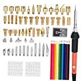 Soldering Iron Kit Carving Pyrography Pen Kit 60w Adjustable Temperature Soldering Iron Welding Wood Embossing Burning Set 71pcs Eu Standard