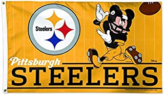 Pittsburgh Steelers Mickey Mouse Flag Football 3x5- With Grommets