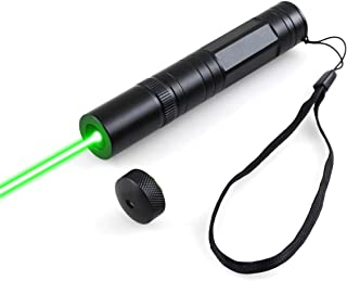 FreeMascot 2-in-1 Handheld Green Light Flashlight with Lock for Camping, Astronomy, Hunting, Hiking and Field Survival (Bl...