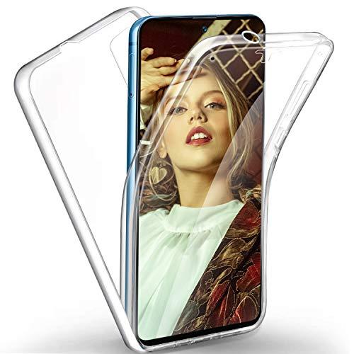 360 Grad Handyhülle kompatibel mit Samsung Galaxy S20 FE / S20 FE 5G / S20 Lite Hülle, Transparent Silikon Crystal Full Schutz Cover [Hart PC Zurück + Weich TPU Vorderseite] Vorne & Hinten Hülle