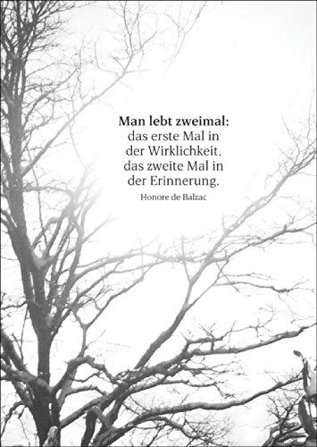 Gedankenvolle Trauerkarte mit Balzac Zitat als Beileids Spruch • auch zum direkt Versenden mit ihrem persönlichen Text als Einleger. • Premium Danksagung mit Umschlag nach Trauer, Tod, Beerdigung, Sterbefall, Begräbnis