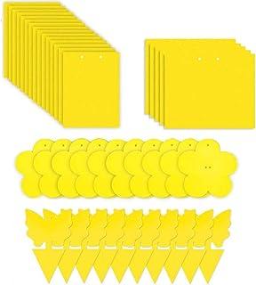 Evance 80 Piezas Trampas de Mosca Pegajosas de Doble Cara Amarillas para Insectos de Planta, Tram...