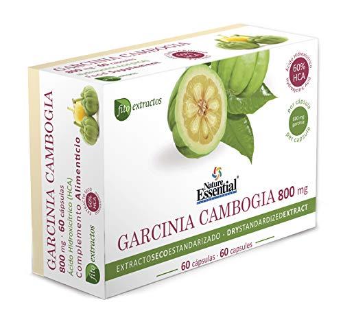 Garcinia cambogia 800 mg Extracto seco 60% HCA 60 cápsulas