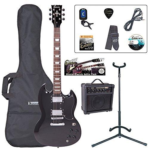 Encore Blaster E-Gitarren-Set schwarz EBP-E69BLK