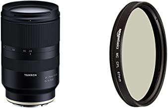 Tamron 28-75mm F/2.8 for Sony Mirrorless Full Frame E Mount (Tamron 6 Year Limited USA Warranty) and Circular Polarizer Lens - 67 mm