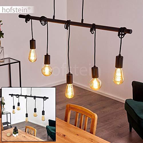 Pendelleuchte Monrovia, Hängelampe aus Metall in Schwarz, 5-flammig, 5 x E27 max. 40 Watt, moderne Hängeleuchte geeignet für LED Leuchtmittel