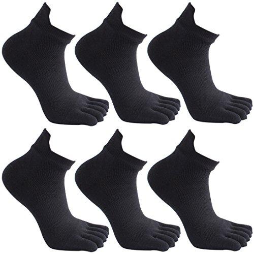 Cinco calcetines del dedo del pie. 6 pares. Para hombre.