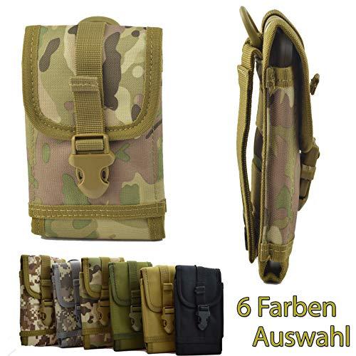 ikracase Outdoor Hülle für Caterpillar CAT S61 Smartphone Gürteltasche Schutz-Hülle Tasche Hülle Cover Holster in Camouflage