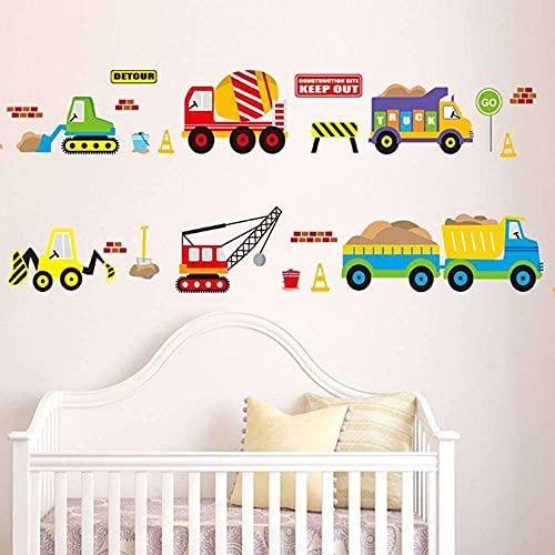 Gmasuber Pegatina de Navidad para decoración del hogar, diseño de dibujos animados, decoración de habitación de niños, multicolor