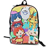 AOOEDM backpack Yo-Kai Watch Cool 3D Printing School Backpack Book Bags per Boy Girl