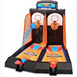 FANGX Juego de Baloncesto para Mesa,Minibasket Juego de Tiro Juguete Educativo Juegos de TiroInteractivo Regalos de Cumpleaños