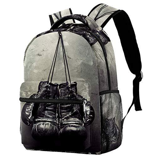 Lorvies alte Boxhandschuhe zum Aufhängen an der Wand, lässiger Rucksack, Schulterrucksack, Büchertasche für Schule, Studenten, Reisetaschen