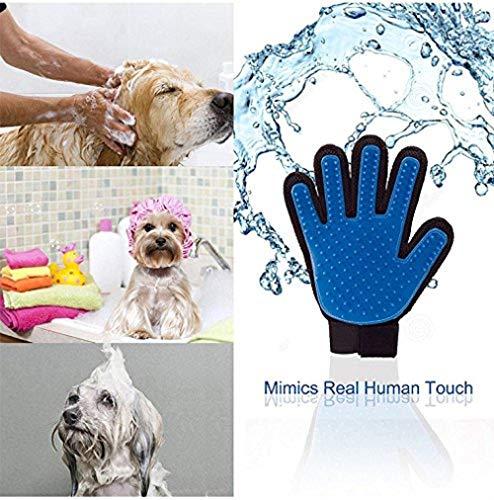 Hangang Huisdier Grooming Handschoen - Zachte Hond Grooming Handschoen - Efficiënte Grooming Handschoenen voor Katten Honden Paarden met Lange & Korte Vacht/Haar (1 paar)