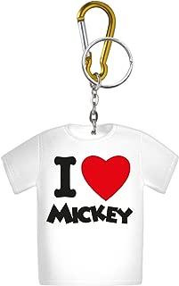 Disney I Love Mickey T-Shirt Coin Holder Key Ring