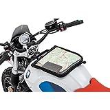 QBag Zubehör Motorrad-Tankrucksack Magnet Kartentasche mit Riemenoption, großes Kartenfach,...