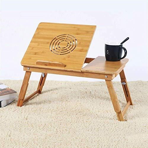 Soporte de lectura ajustable en altura y ángulo, bandeja de cama plegable con cajón, orificio de ventilador de refrigeración (color A, tamaño: 55 x 35 x 30 cm)