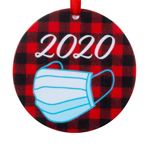 Joycuff 2020 Christmas Ornament, Face Mask Ornament for Best Good Friends Sister Families Keepsake Pandemic Christmas Tree Ornament
