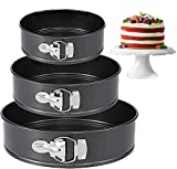 Springform Cake Pans 4'/7'/9' inch set for 3 PCS Non-stick Detachable Bakeware Leakproof Round Baking Pans for Baker and Baking Enthusiast, make for Mini Cheesecakes, Pizzas and Quiches etc.