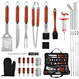 Best Bbq Tool Sets - grilljoy 30PCS BBQ Grill Tools Set with Thermometer Review
