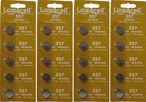 20 Loopacell 357 SR44 Silver Oxide Watch Electronic Battery