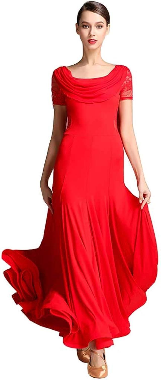 YTS Red Acrylic Modern Dance Dress, Four Season Dress