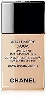 Chanel Vitalumiere Aqua SPF 15 Skin Perfecting Makeup, No. 40 Beige Desert, 30 Milliliter