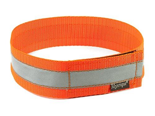 Mystique Signalhalsband mit Klettverschluss Reflexhalsband 45cm Neon orange