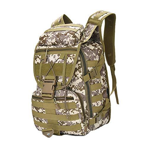 HYY-YY Outdoor Backpack Multi-Function Waterproof Molle Bag for Hiking Camping Travel Climbing Desert Camouflage