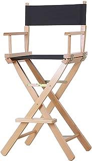 Directors Chairs Solid Wood Foldable Directors Chair, Portable Bar High Chair, Makeup Artist Chair, Fishing Beach Chair, Outdoor Leisure Canvas Chair